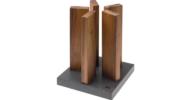 KAI Stonehenge mágneses késtartó blokk Diófa