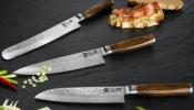 KAI Shun Premier TiM Mälzer szakácskés készlet damaszk