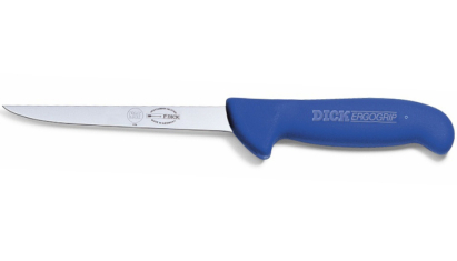 Dick ErgoGrip Csontozókés keskeny flexibilis 18 cm-es kék