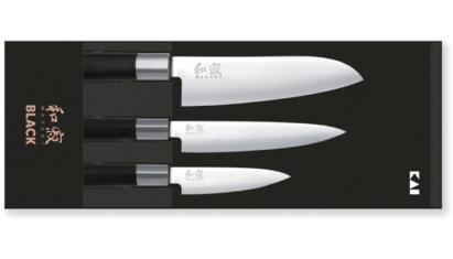 KAI Wasabi Black szakácskés készlet 3db-os