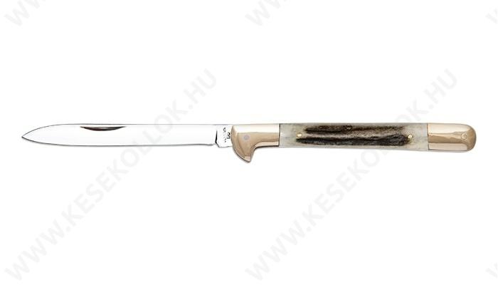 NN-Knives Zsebkés Ujjtámaszos szalonnázó agancs nyéllel