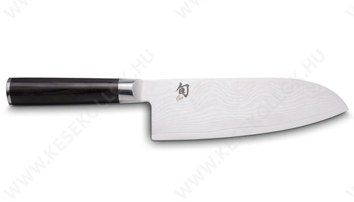 KAI Shun Classic széles Santoku szakácskés 19 cm-es damaszk