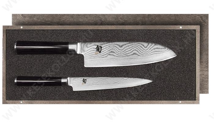 KAI Shun Classic Santoku kés és konyhakés készlet damaszk