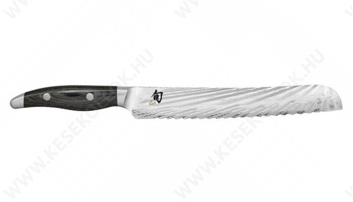 KAI Shun Nagare kenyérvágó kés 23 cm-es damaszk